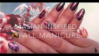 Asian inspired fall manicure - Tutorial