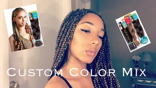 How To|Detailed Beginner Friendly Long Box-braids (How To Custom Mix Colors)|BrokeButBeautiful