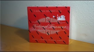 2018 Panini National Treasures Baseball - 1 box break! #1/1 Triple Relic Plate Auto!