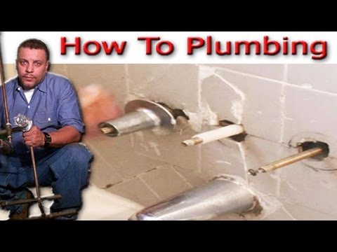 tub and shower valve change from Three handle to Single handle part 1