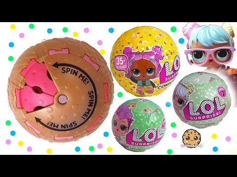 LOL Surprise Doll Series 3 Confetti POP ! SPIN Surprise Blind Bag Ball Toy Video
