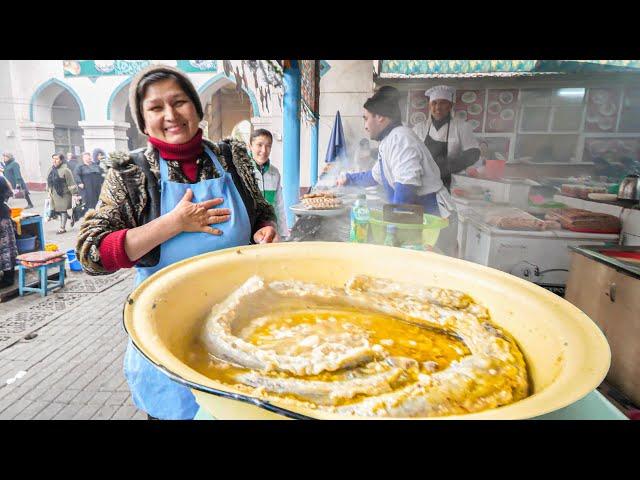 The MOST UNIQUE Street Food in Asia - SILK ROAD Street Food Tour of Tashkent, UZBEKISTAN!!!