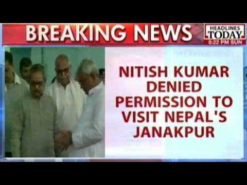 Nitish Kumar Denied Permission To Visit Janakpur In Nepal