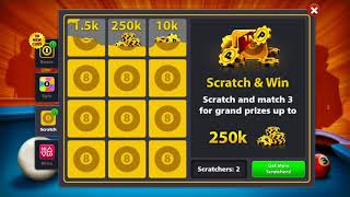 8 Ball Pool unlimited Coin and Scratches Latest 2018 Working Trick