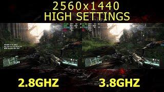 Xeon E3-1231v3: 2.8GHZ vs 3.8GHZ ( Crysis 3 )