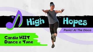 Hybrid HIIT Dance Workout 🔥 High Hopes - Panic! At The Disco | Cardio + Full-Body Strength & Tone