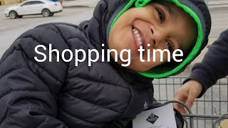 Cute baby saying ABCD ,learn to shoping in sams club and play ball together