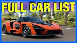 Forza Horizon 4 : FULL CAR LIST + ALL BARN FINDS LEAKED!!
