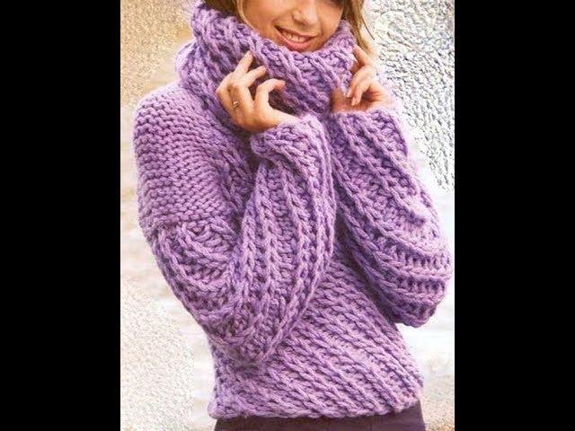 Пуловеры, Вязанные Спицами - фото - 2019 / Pullovers Knitting Needles