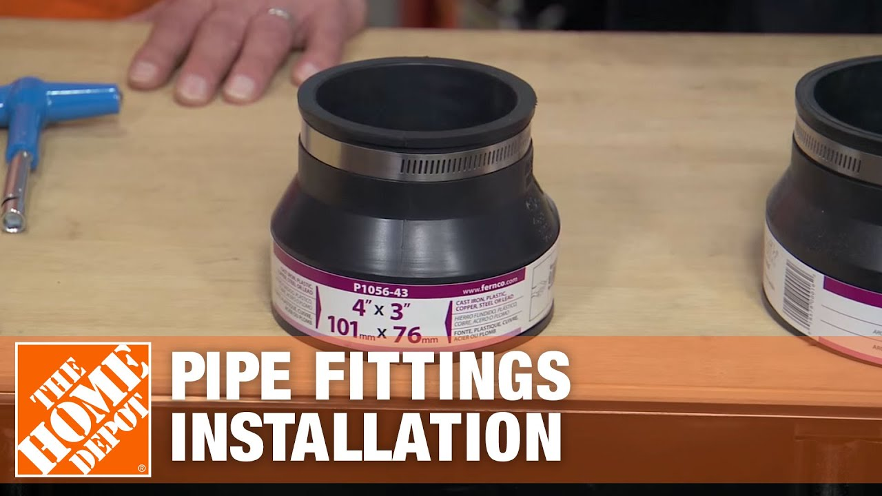 Installation Of Fernco Plumbing Pipe Fittings Youtube