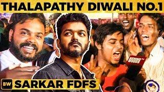 Sarkar FDFS : Thala Fan Imitates Thalapathy's PUNCH Dialogue! | Rohini Theatre Celebration