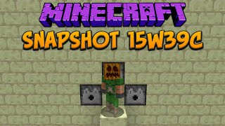 Minecraft 1.9: Snapshot 15w39c FPS Boost And New Dispenser Feature