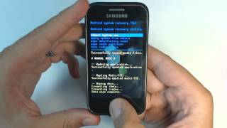 Samsung Galaxy Ace Plus S7500 - How to reset - Como restablecer datos de fabrica