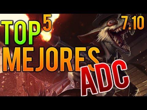 TOP 5 MEJORES ADC parche 7.10 | League of Legends