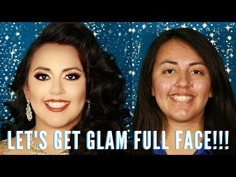 OMG IT'S A GLAM PROM MAKEOVER FULL FACE TUTORIAL STEP BY STEP | mathias4makeup