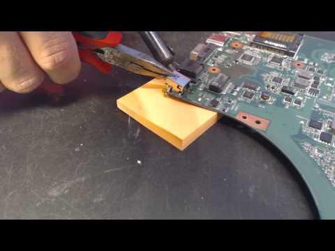 Asus K53E Laptop Power Jack Repair broken socket input port connector prong pin fix replacement