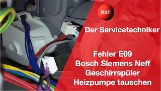 E09 Bosch Siemens Constructa Neff - so wechselt man die Heizpumpe