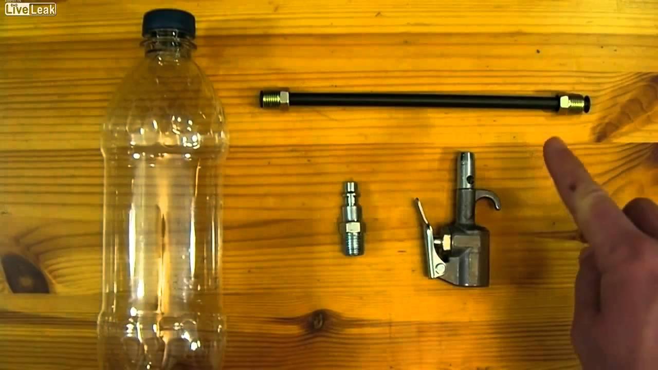 Как сделать пневматика из бутылки