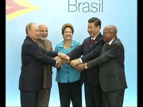 PM Narendra Modi with leaders of BRICS nations