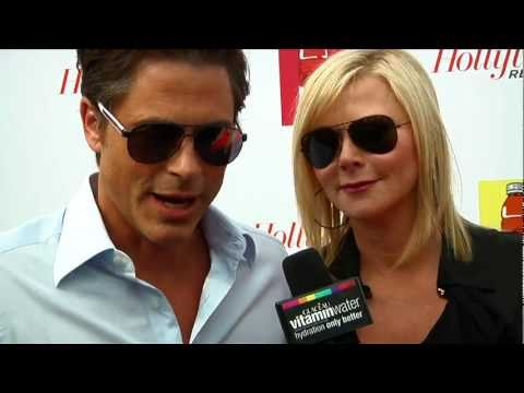 rob lowe interview at the hollywood reporter tribute to jodie foster party!
