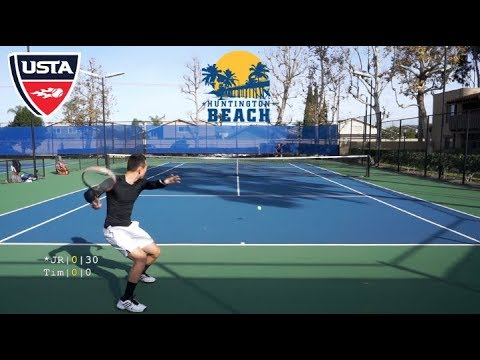 Rematch With Jr Usta 4 5 Vs Former Ncaa D1 Tennis Full Set Hd