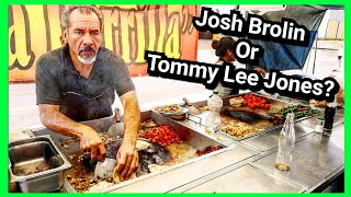 Mexican Street Food TACOS - Tipping $100 Dollars To JOSH BROLIN Clone - ULTIMATE Taco Experience!!