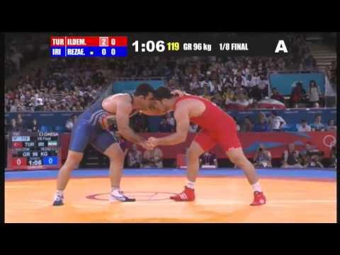 1° Lucha De Ghasem Gholamreza Rezaei - IRAN Juegos Olímpicos de londres 2012.
