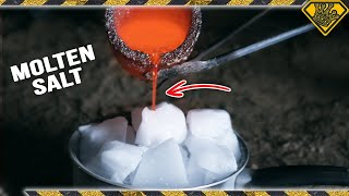 Mixing Dry Ice with Molten Salt