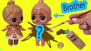 LOL Surprise Boy Peanut Butter & Jelly Brother Doll DIY Craft Makeover Painting Video
