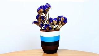 Декор вазы - как раскрасить вазу своими руками