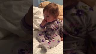 Baby Girl Makes an 'Important Business Call'