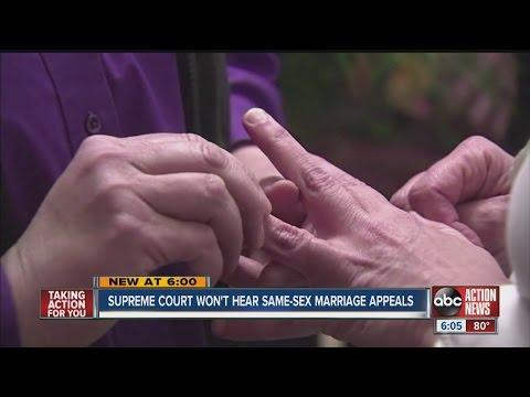 Supreme Court won't hear same-sex marriage appeals
