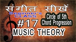 Basic Music Theory Lessons for Beginners in Hindi 17 Chord Progression by Circle of Fifth