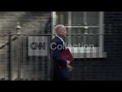UK:SYRIA MTG 10 DOWNING ST FOREIGN SECY HAGUE