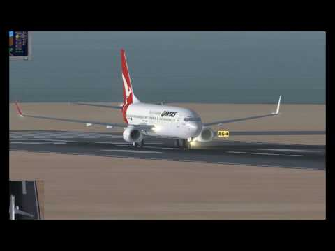 FSX Qantas Airlines B737-800 Sydney to Perth
