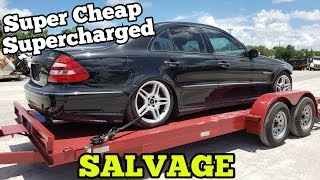 I Bought a Supercharged Mercedes AMG from Salvage Auction! Insurance TOTALED it with MINOR Damage!
