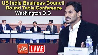 YS Jagan USA LIVE | Jagan Participate in US India Business Council Round Table Conference