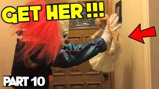 Evil Doll Annabelle mailed to us FREAKS US OUT and haunts us like a SCARY CLOWN - Part 10