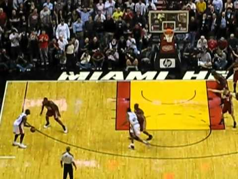 Lebron James steals and saves the cavz while getting rocked! last game against Dwyane Wade