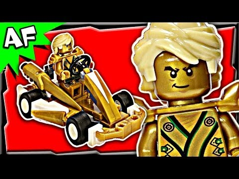 Lloyd GOLD NINJA GO-KART Custom Lego Ninjago Build Review 70503 70505 70725