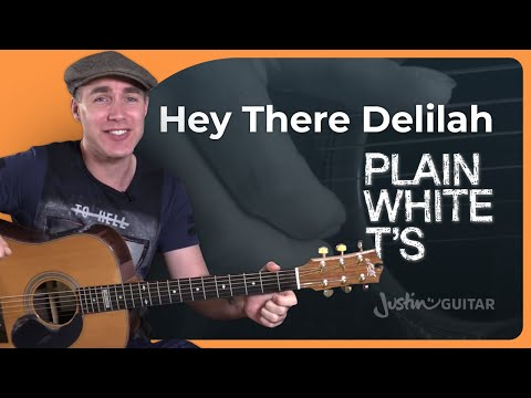 Hey There Delilah - Plain White T's - Beginner Acoustic Fingerstyle Guitar Lesson Tutorial (BS-820)