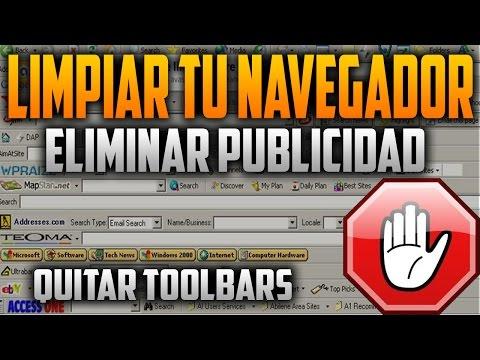 Como Limpiar mi Navegador de VIRUS. ELIMINAR PUBLICIDAD. toolbars. spiwares. malwares