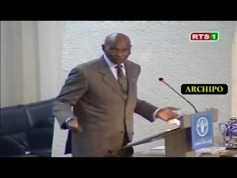 Abdoulaye Wade lors du Sommet de la FAO à Rome