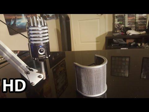 Mudder Microphone Pop Filter ( Windscreen & Foam )    Review / Audio Test