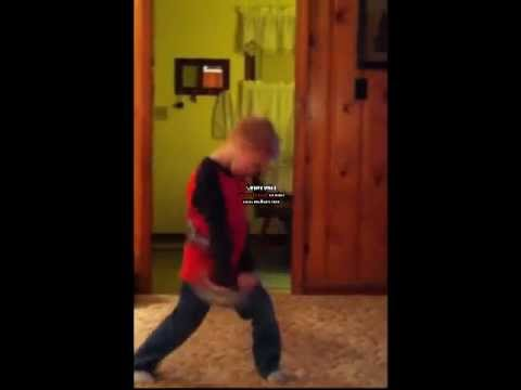 Kid Dancing To Cupid Shuffle video