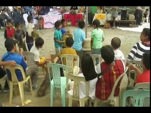 Young Igorot people in the city learn how to play the gangsa by tutorials & active participations