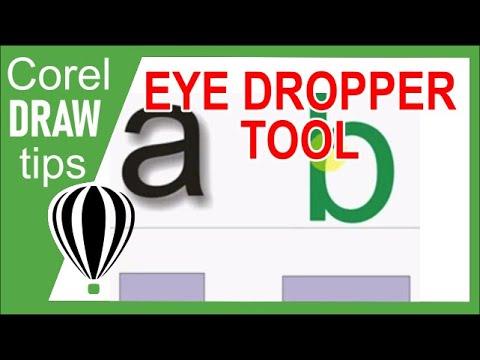 Using the eyedropper tool in CorelDraw