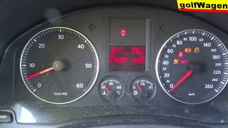 VW Golf 5 1.9TDI engine fault light example and How did we see a DPF filter failure