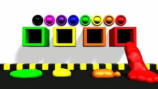 Learn Colors with 3D Paste for Kids and Children * LEARN COLORS FOR KIDS