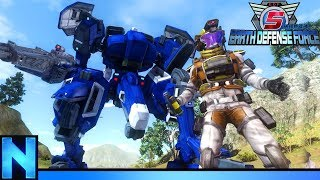 Using Anime Mechs To Destroy An Alien MOTHERSHIP! - EDF 5